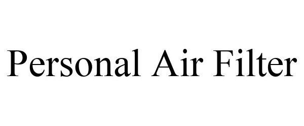 Trademark Logo PERSONAL AIR FILTER