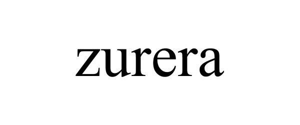 Trademark Logo ZURERA