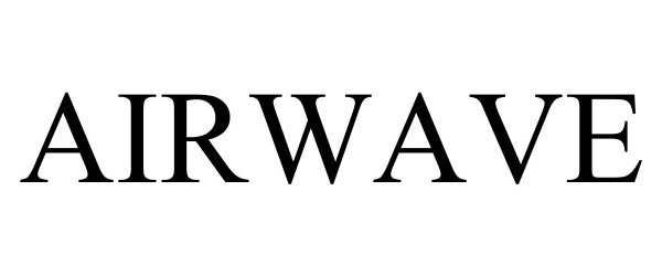 Trademark Logo AIRWAVE