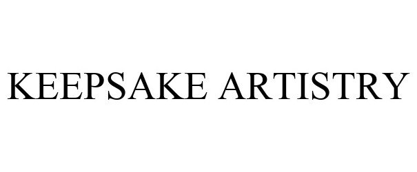 Trademark Logo KEEPSAKE ARTISTRY