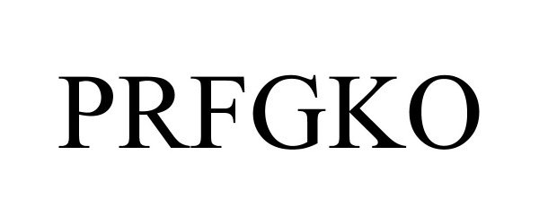 Trademark Logo PRFGKO