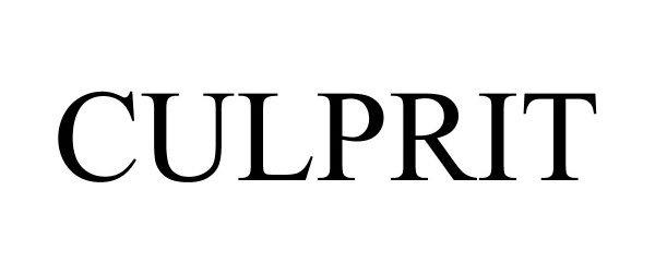 Trademark Logo CULPRIT