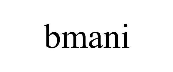 Trademark Logo BMANI