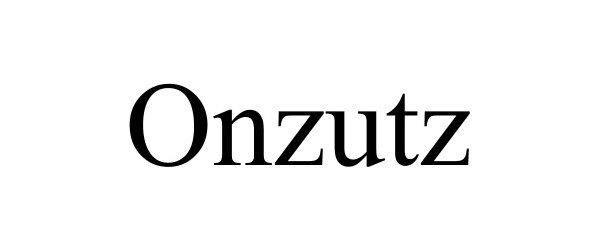Trademark Logo ONZUTZ