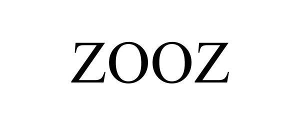 Trademark Logo ZOOZ