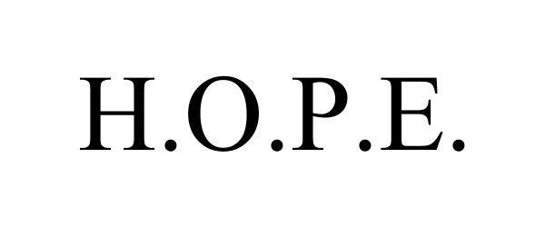 Trademark Logo H.O.P.E.