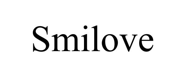 Trademark Logo SMILOVE