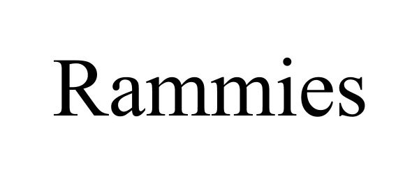 Trademark Logo RAMMIES
