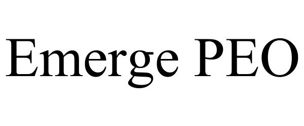 Trademark Logo EMERGE PEO