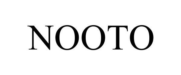 Trademark Logo NOOTO