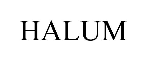 Trademark Logo HALUM