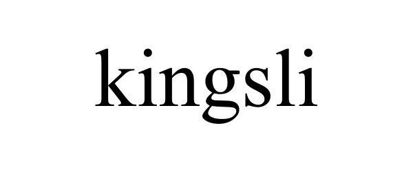 Trademark Logo KINGSLI