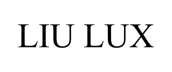 Trademark Logo LIU LUX