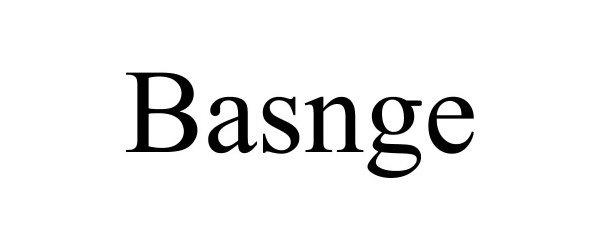 Trademark Logo BASNGE