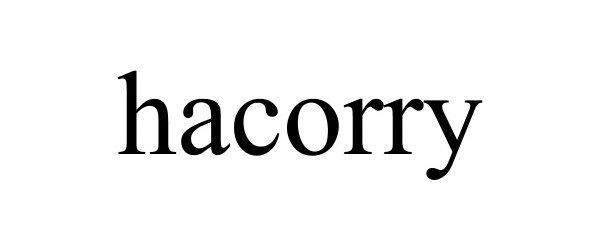 Trademark Logo HACORRY