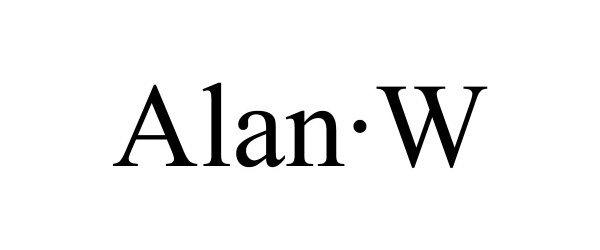 Trademark Logo ALAN·W