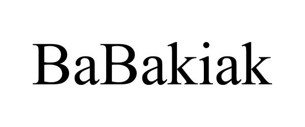 Trademark Logo BABAKIAK