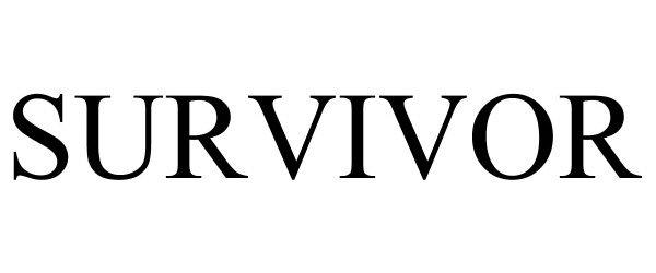 Trademark Logo SURVIVOR