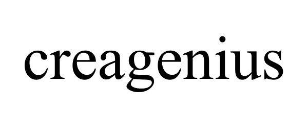 Trademark Logo CREAGENIUS