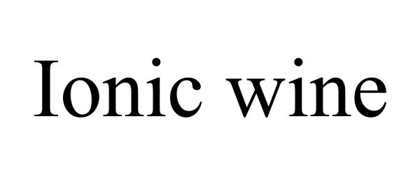 Trademark Logo IONIC WINE