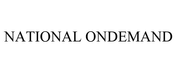 Trademark Logo NATIONAL ONDEMAND