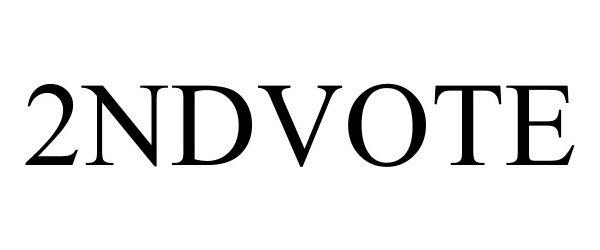 Trademark Logo 2NDVOTE