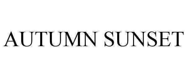 Trademark Logo AUTUMN SUNSET