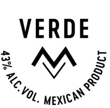 Trademark Logo VERDE MV 43% ALC. VOL. MEXICAN PRODUCT