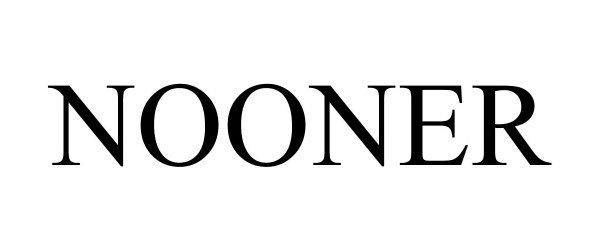 Trademark Logo NOONER