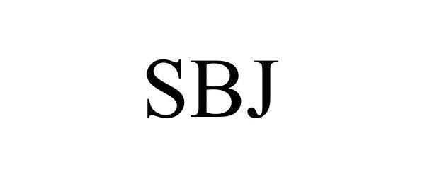 Trademark Logo SBJ