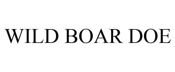 Trademark Logo WILD BOAR DOE