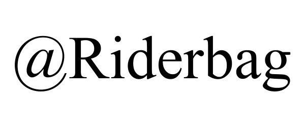 Trademark Logo @RIDERBAG
