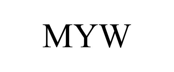 Trademark Logo MYW