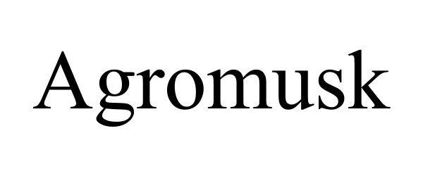 Trademark Logo AGROMUSK