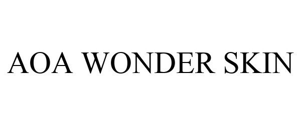 Trademark Logo AOA WONDER SKIN