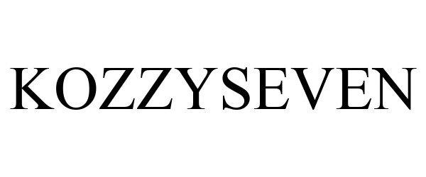 Trademark Logo KOZZYSEVEN