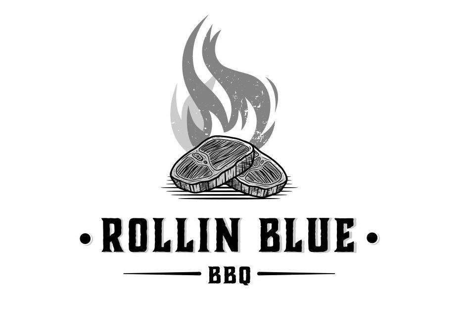 Trademark Logo ROLLIN BLUE BBQ