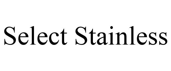 Trademark Logo SELECT STAINLESS