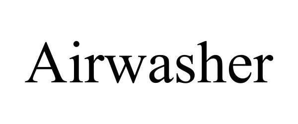 Trademark Logo AIRWASHER