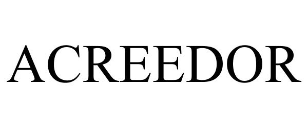 Trademark Logo ACREEDOR