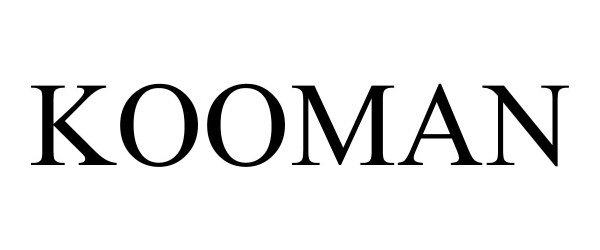 Trademark Logo KOOMAN