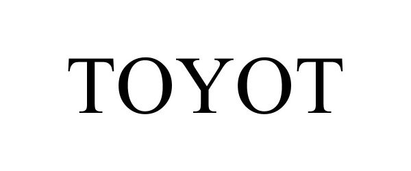 Trademark Logo TOYOT