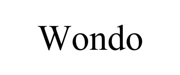 Trademark Logo WONDO