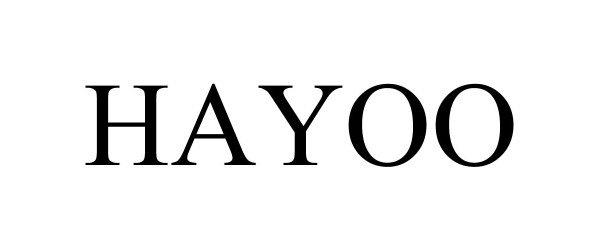 Trademark Logo HAYOO