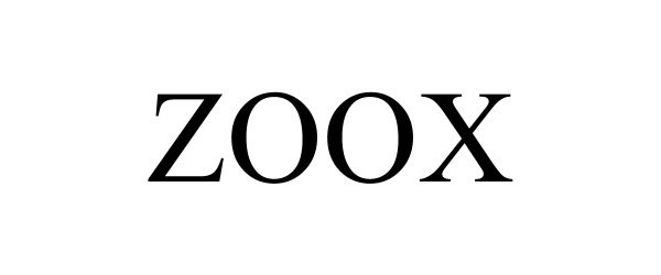 Trademark Logo ZOOX