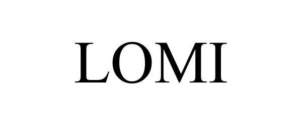 Trademark Logo LOMI