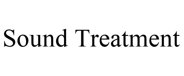 Trademark Logo SOUND TREATMENT
