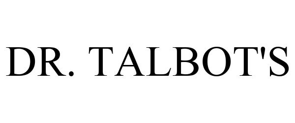 Trademark Logo DR. TALBOT'S