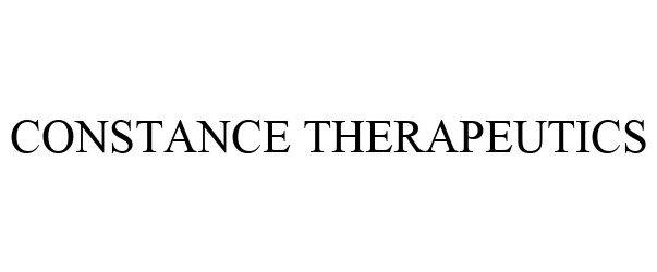 Trademark Logo CONSTANCE THERAPEUTICS
