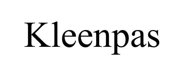 Trademark Logo KLEENPAS